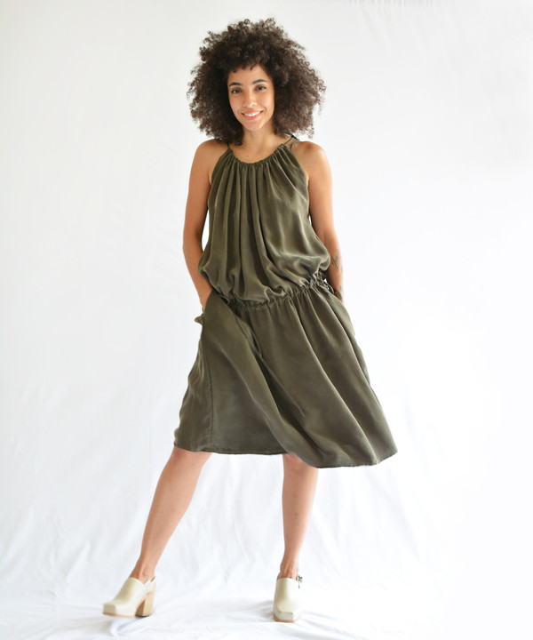Objects Without Meaning Hi-Neck Dress
