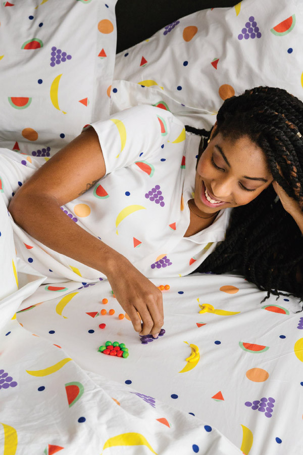 Dusen Dusen Fruit Sheet Set Queen