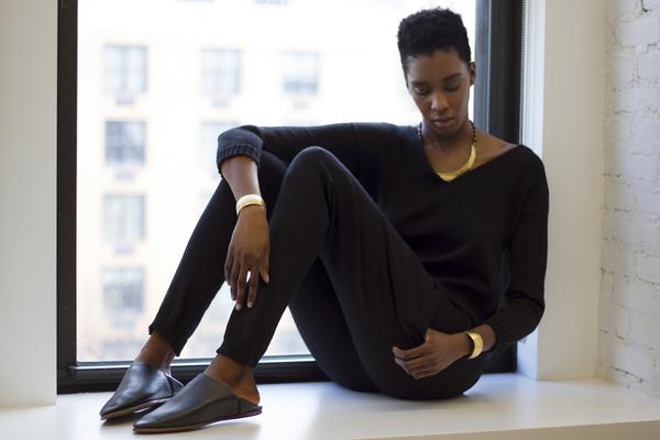 été noir black knit jumpsuit