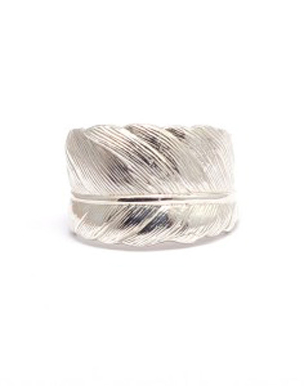 Frilly By Lily - Silver Feather Ring
