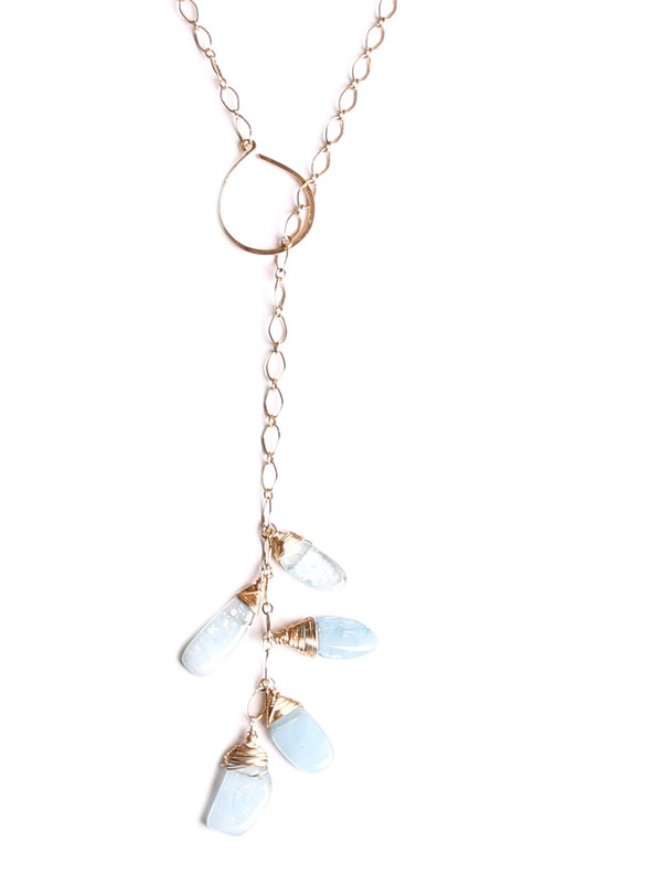 James and Jezebelle Aqua Maine Lariat