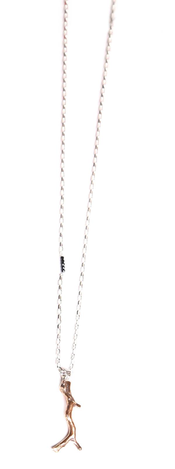 Sarah Dunn Coral Bronze Pendant Necklace