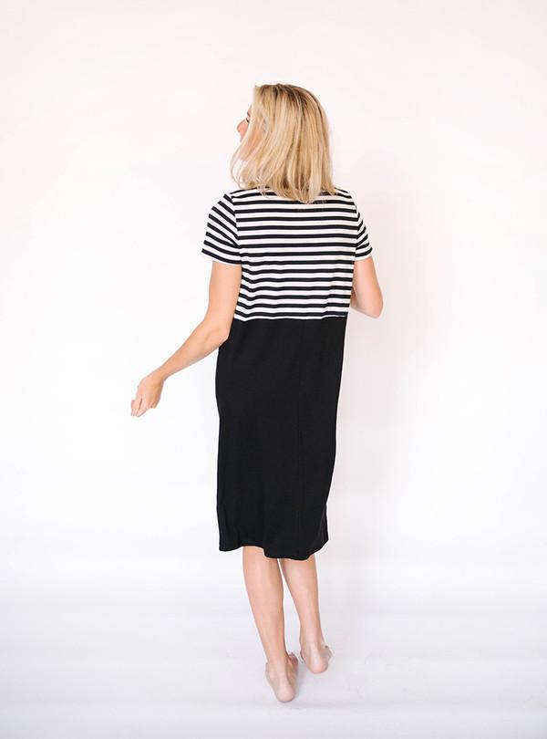 Hailey & Co Striped Pocket Dress