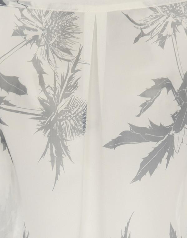 WHiT - Thistle Print Jagger Tie-Neck Blouse