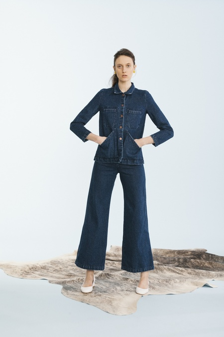 Carleen Nellie Wide Leg Jeans Blue