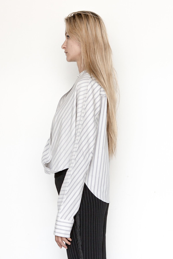 Assembly New York Cotton Stripe Twist Top