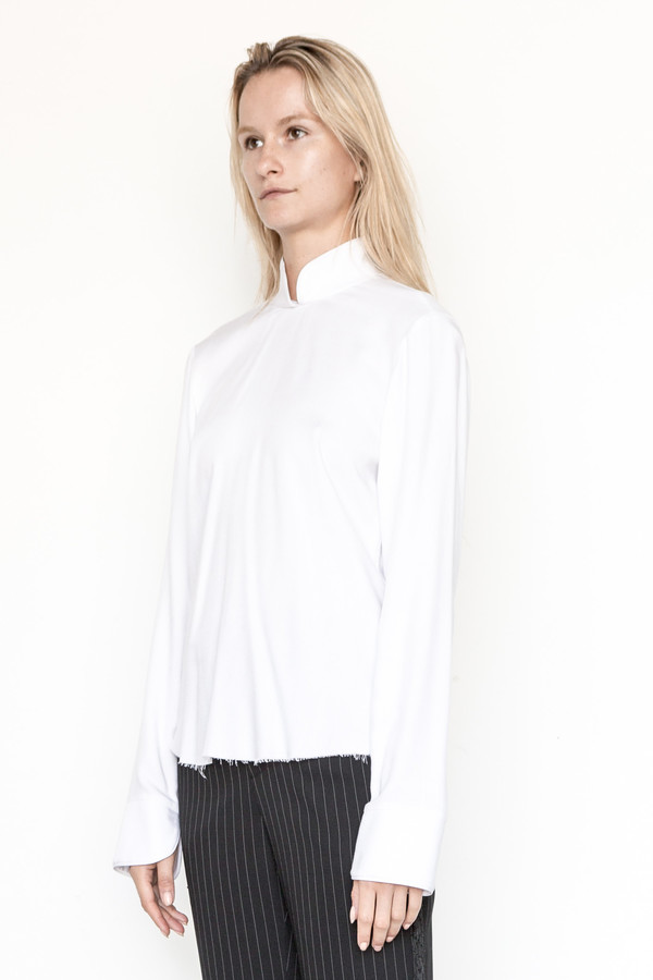 Assembly New York Rayon Cantonais Top
