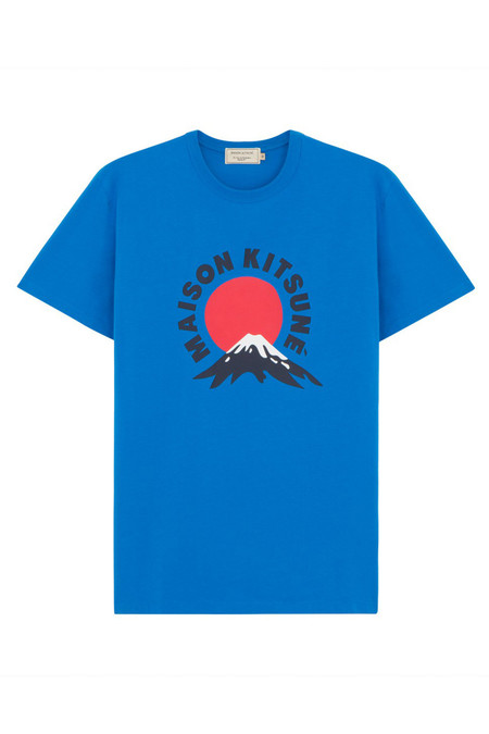 Men's Kitsune Mount Fuji Tee | Blue