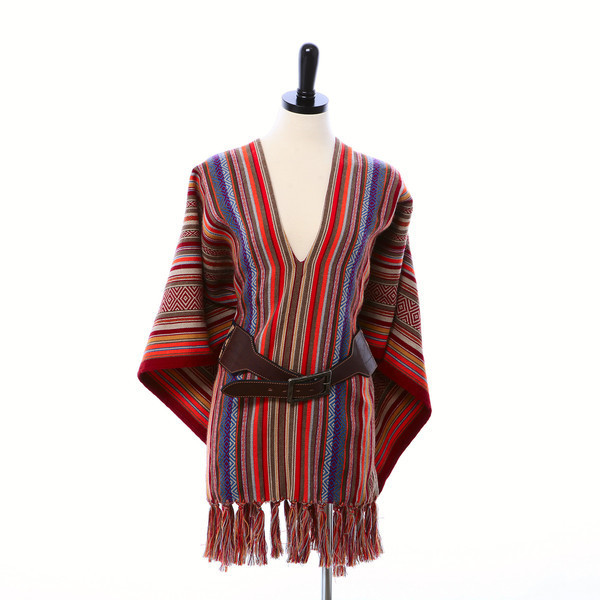 Stick & Ball Blanket Stripe Poncho