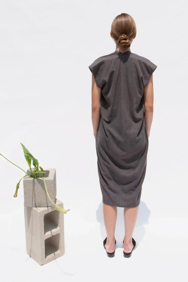 Everyday Dress, Silk Noil in Coal