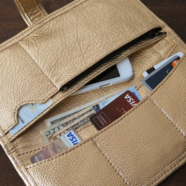 Erica Tanov - Metallic Leather Long Wallet