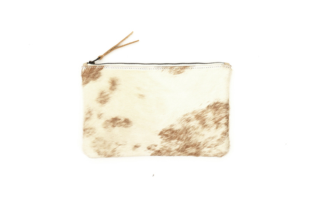 Primecut TAN BRINDLE COWHIDE CLUTCH