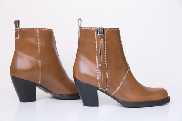 acne studios pistol chestnut boot