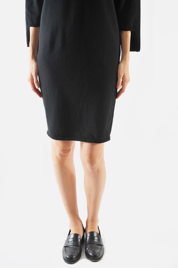 Oyuna Black Desta Cashmere Knit Dress by Oyuna