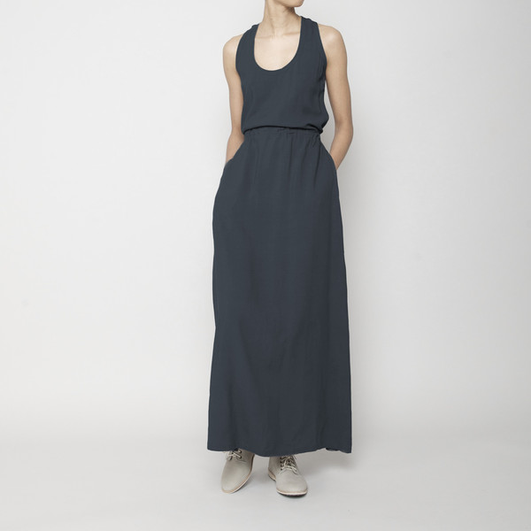 7115 by Szeki Racerback Maxi Dress- Navy FW16