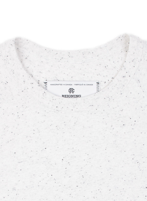 Reigning Champ Knit Cotton Jersey Raglan Tee Snow