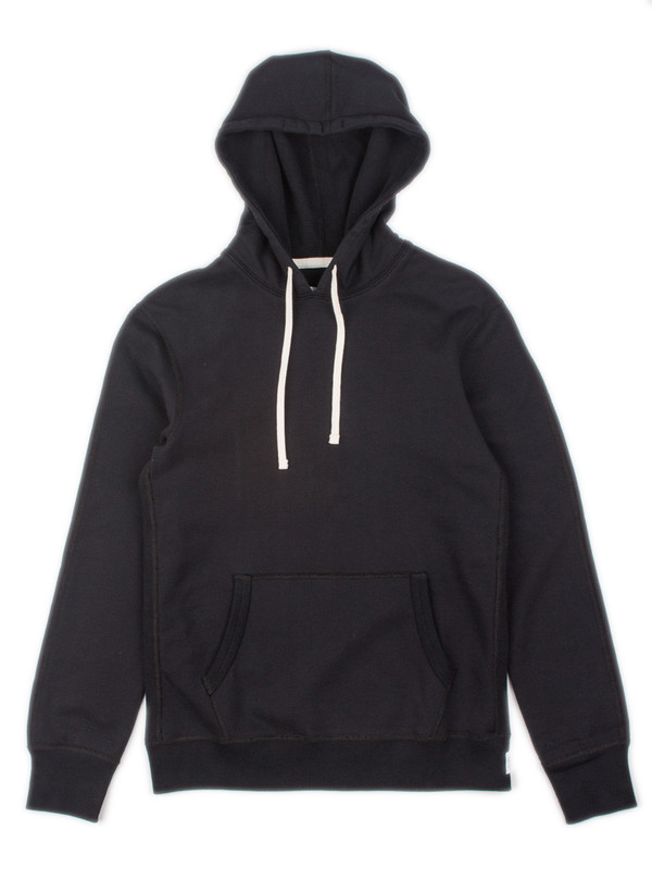 Reigning Champ Midweight Pullover Hoodie Black