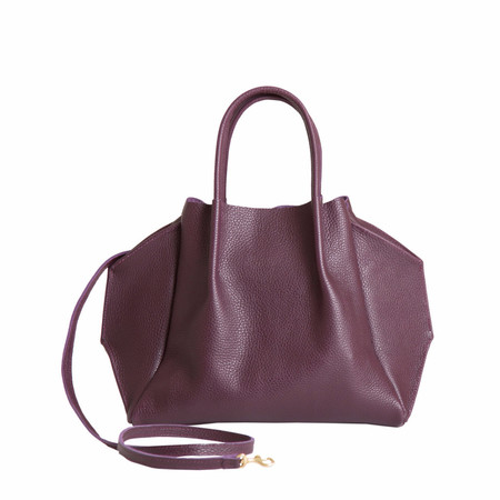 Oliveve zoe tote in plum pebble cow leather