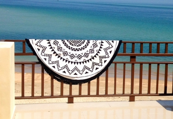Tofino Towel Co. Long Beach Black Edition - Round Towel