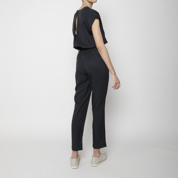 7115 by Szeki V-Neck Jumpsuit- Black FW16