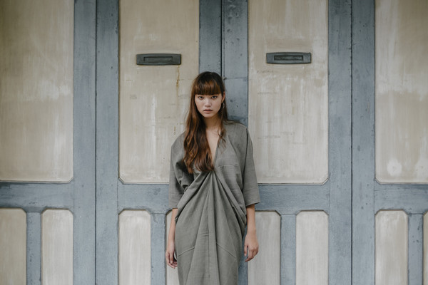 Seeker Studios Long Kaftan Dress - Grey