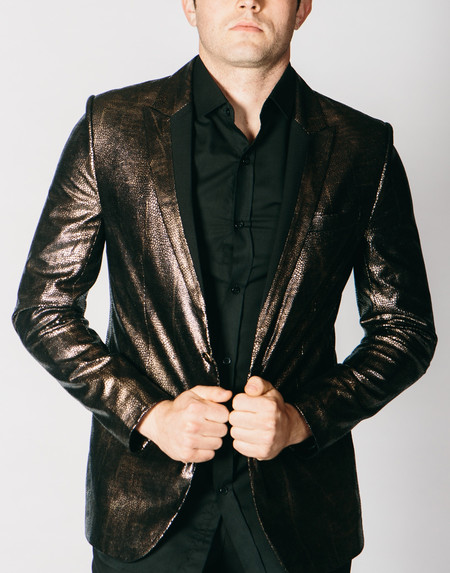 Men's Any Old Iron Bronze Animal Print Jacket