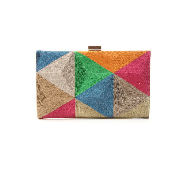Anne Grand-clément Playtime Multcolor Petite Framed Clutch