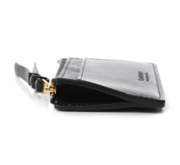 Lotuff Leather Black Card Case Wallet