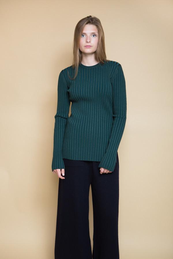 Achro Long Sleeve Ribbed Sweater / Green