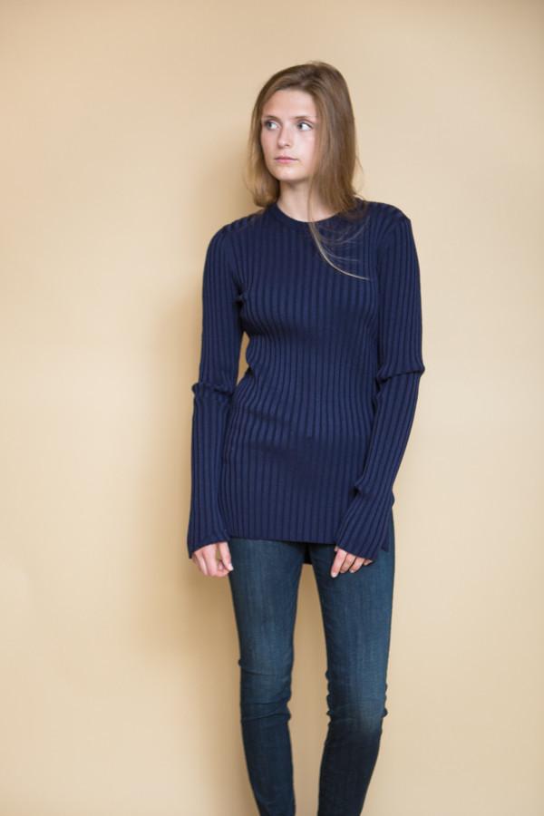 Achro Long Sleeve Ribbed Sweater / Navy