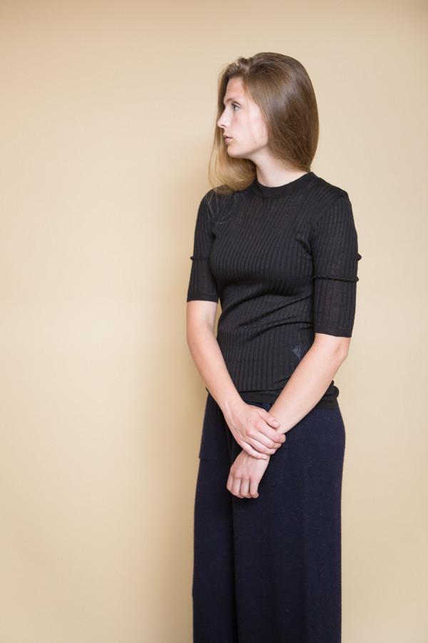 Achro Short Sleeve Ribbed Sweater