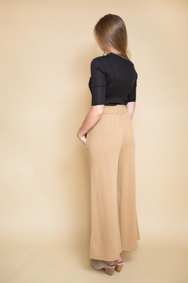 Achro Wide Leg Knit Pants / Camel