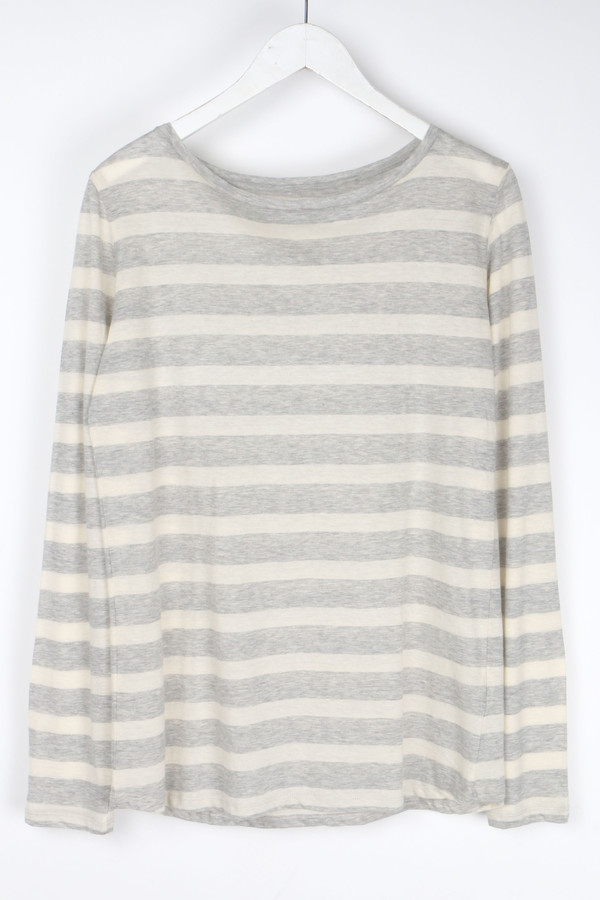Majestic Stripe Long Sleeve Round Hem