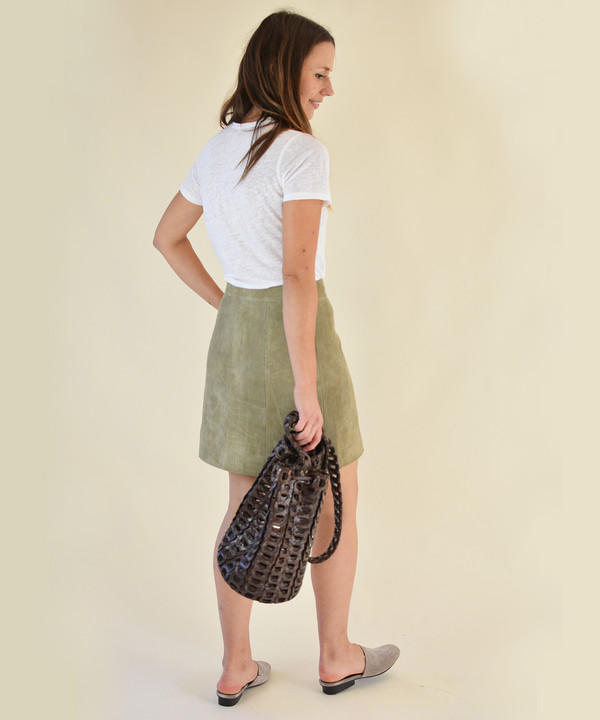 Just Female Fer Suede Skirt