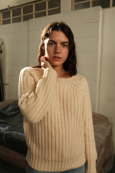 Objects Without Meaning Rib Sweater, Oat