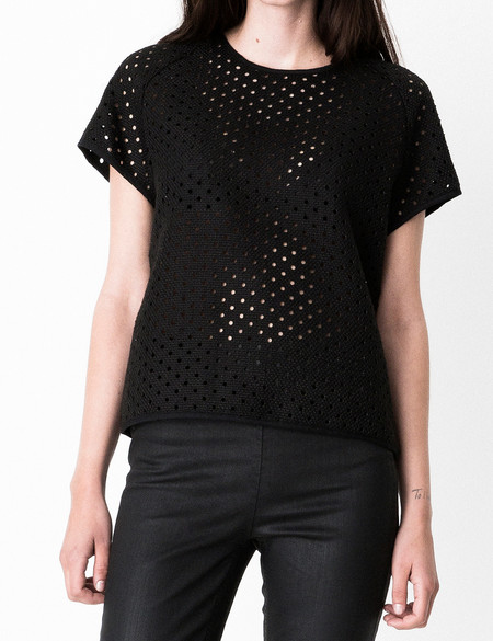 "Storm + Marie Storm and Marie ""Dot"" Textured Structured Top"