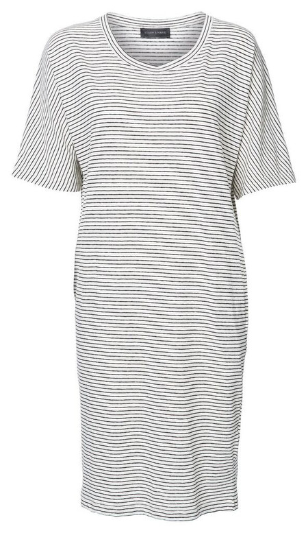 """Storm + Marie Storm and Marie """"Ritz"""" 3/4 Sleeve Striped Jersey Dress"""
