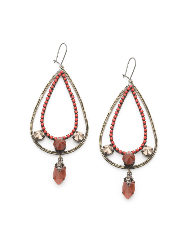 IOSSELLIANI RED DROP EARRING
