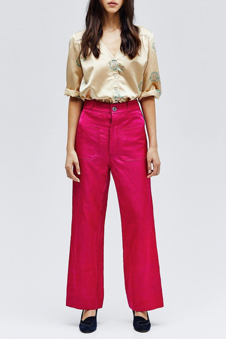 Horses Atelier High Waisted Trouser | Magenta