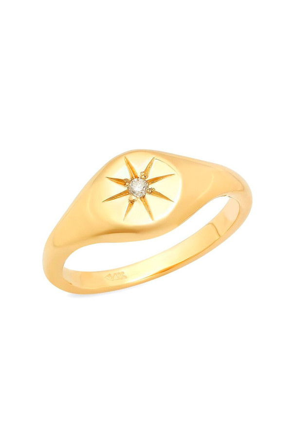 Sachi Jewelry Star Pinky Signet Ring