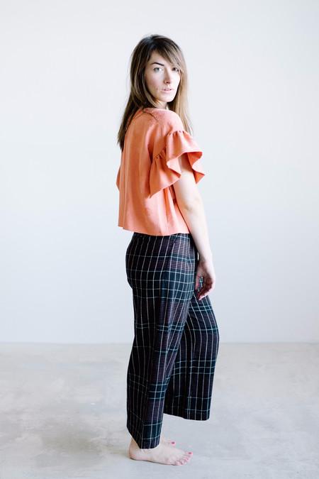 Arcana Heirophant Kimono Blouse // Tangerine