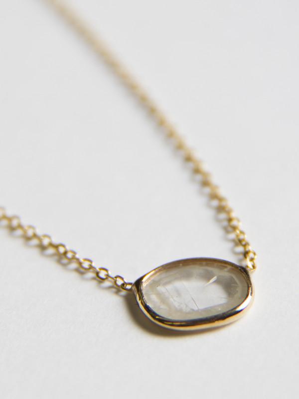 Vale Large Diamond Slice Necklace