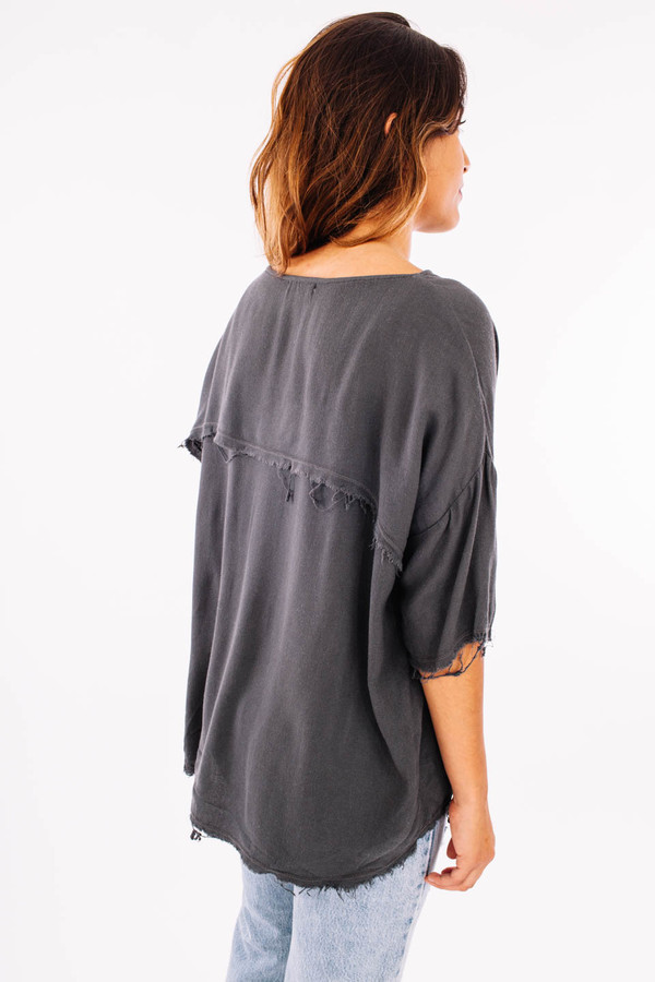 Black Crane Square Top (Dark Shadow)