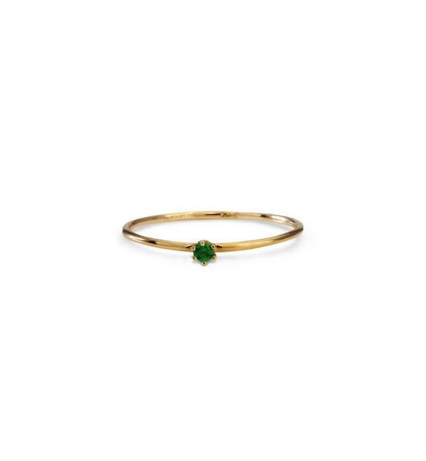 Satomi Kawakita Baby Emerald Ring