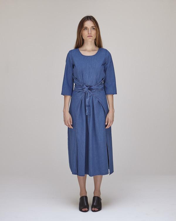 Caron Callahan Hester Dress in Indigo