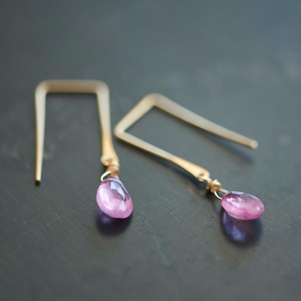 Sierra Winter Sunset Earrings Pink Sapphire