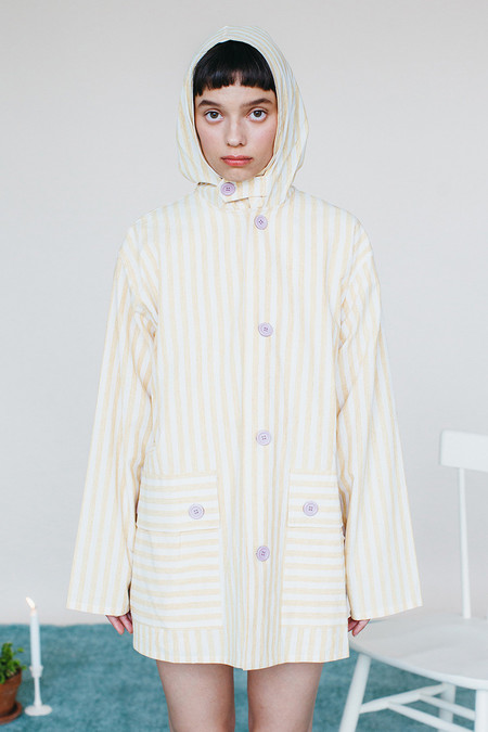 Samantha Pleet Panorama Jacket - Yellow Stripe