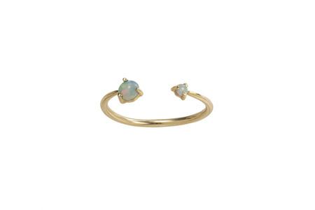 WWAKE Open Opal Ring