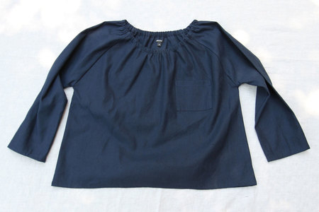 pietsie Marais Shirt in Indigo Linen