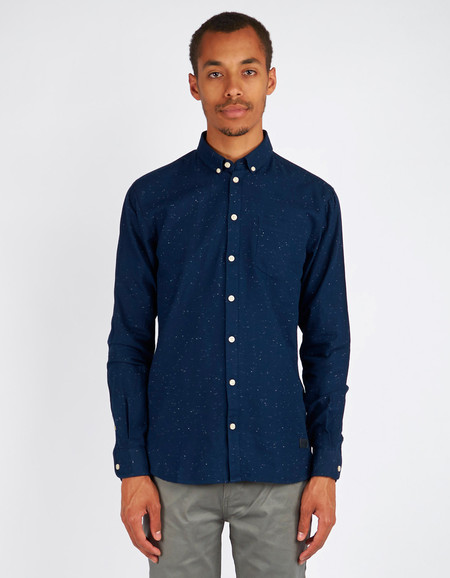 Minimum Bronxwood Shirt Dark Iris